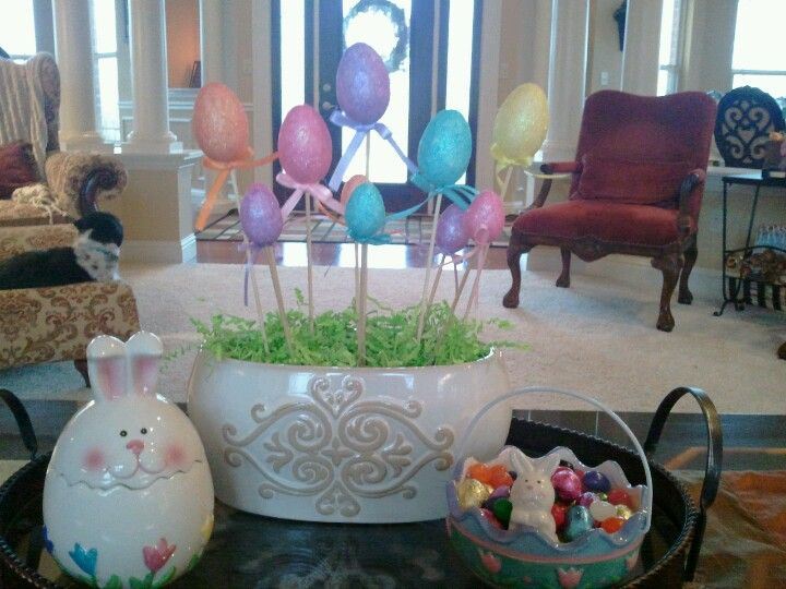 Easy easter decor home decor ideas pinterest for Simple home decor ideas