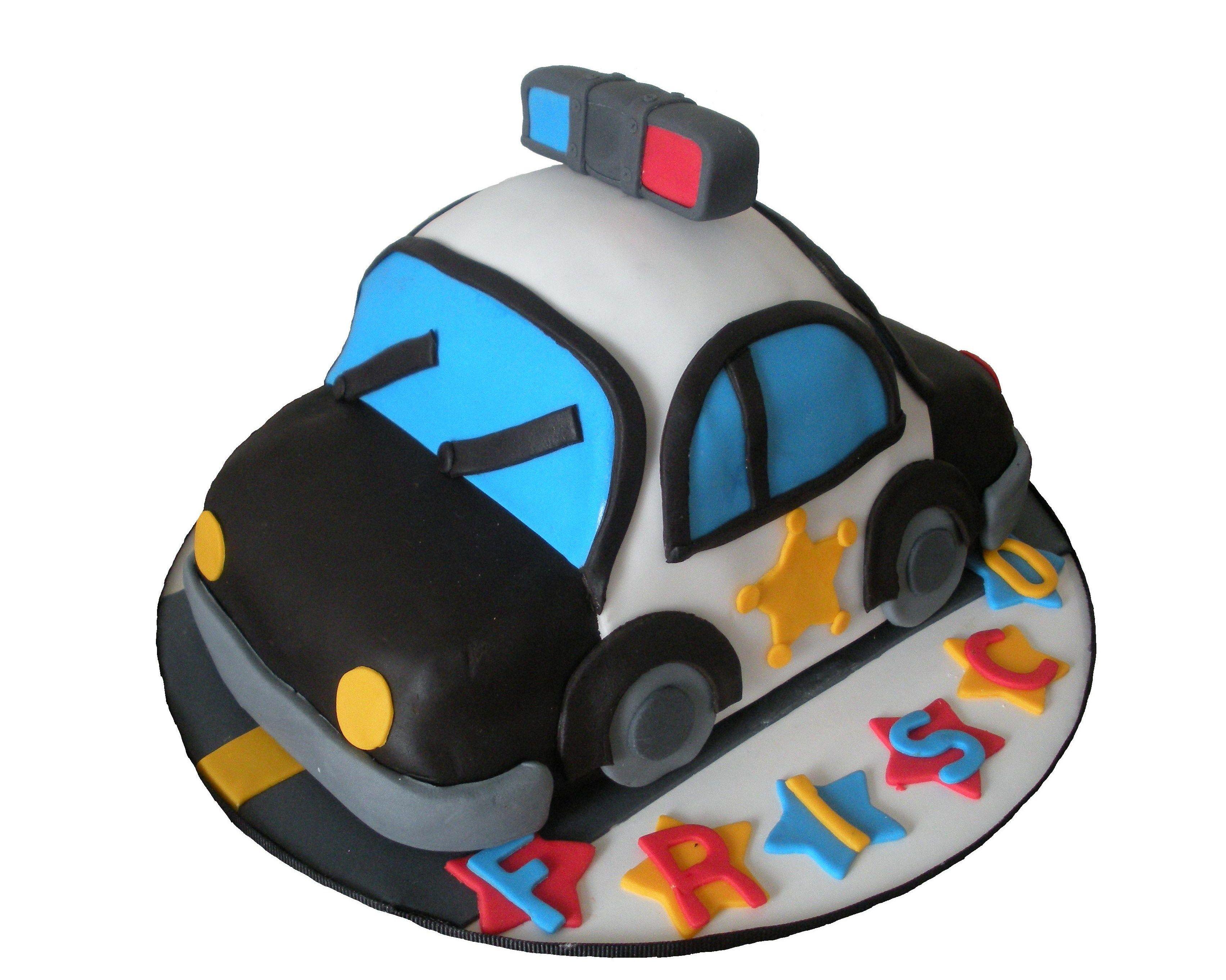 Police Car Cake Design : Pin Police Car Birthday Cake Cake on Pinterest