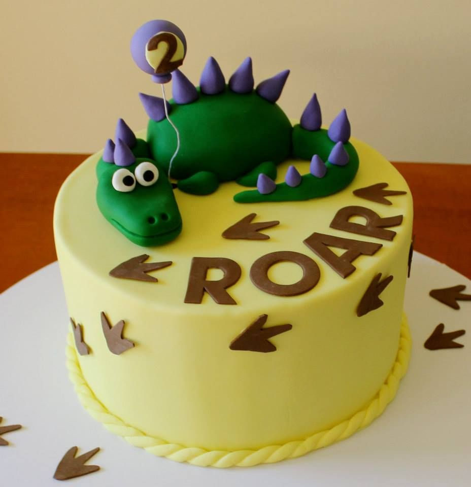 2nd birthday dinosaur dragon boys cake  Landons 2nd Birthday  Pint ...