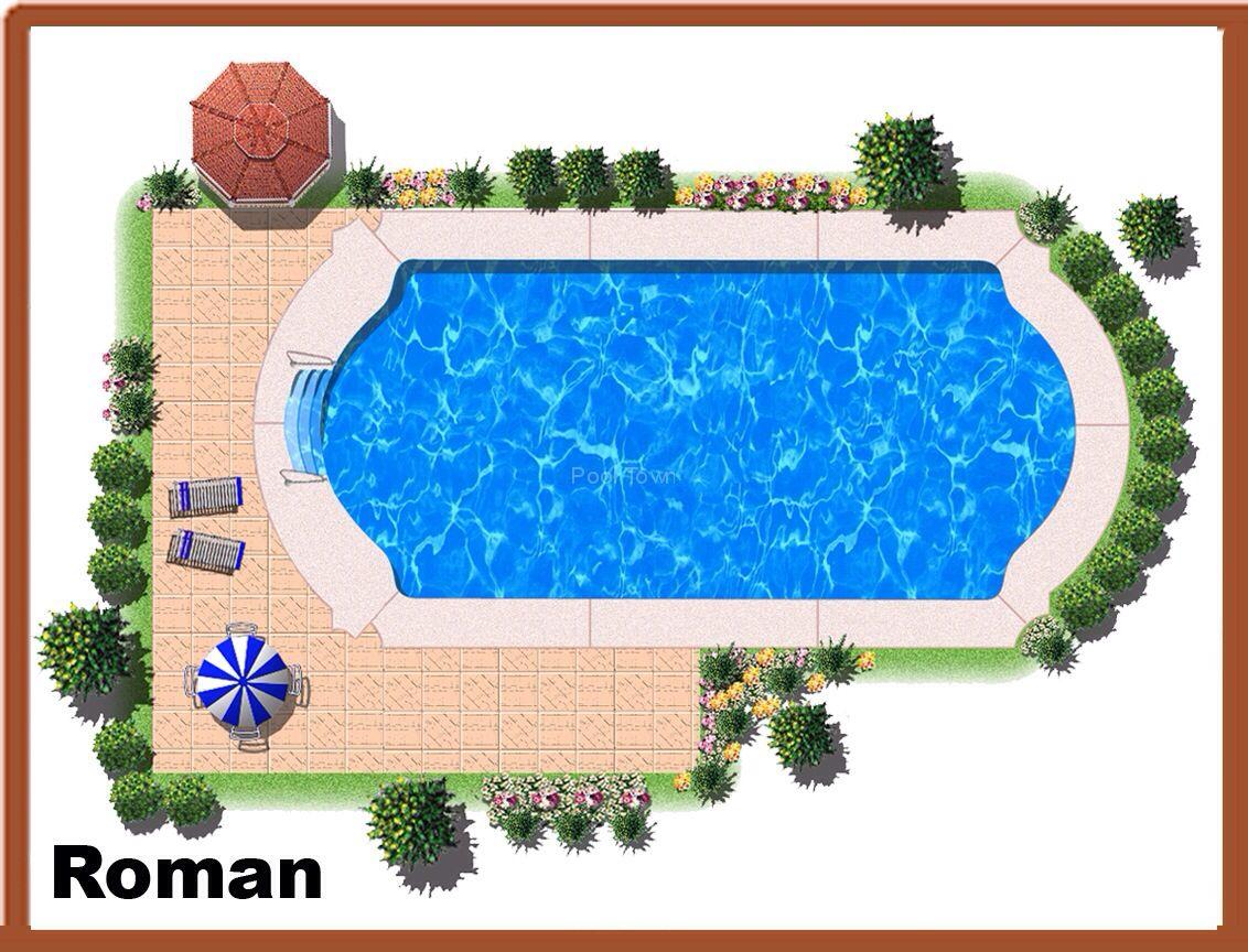 Roman Pool Yard Backyard Pool Pinterest
