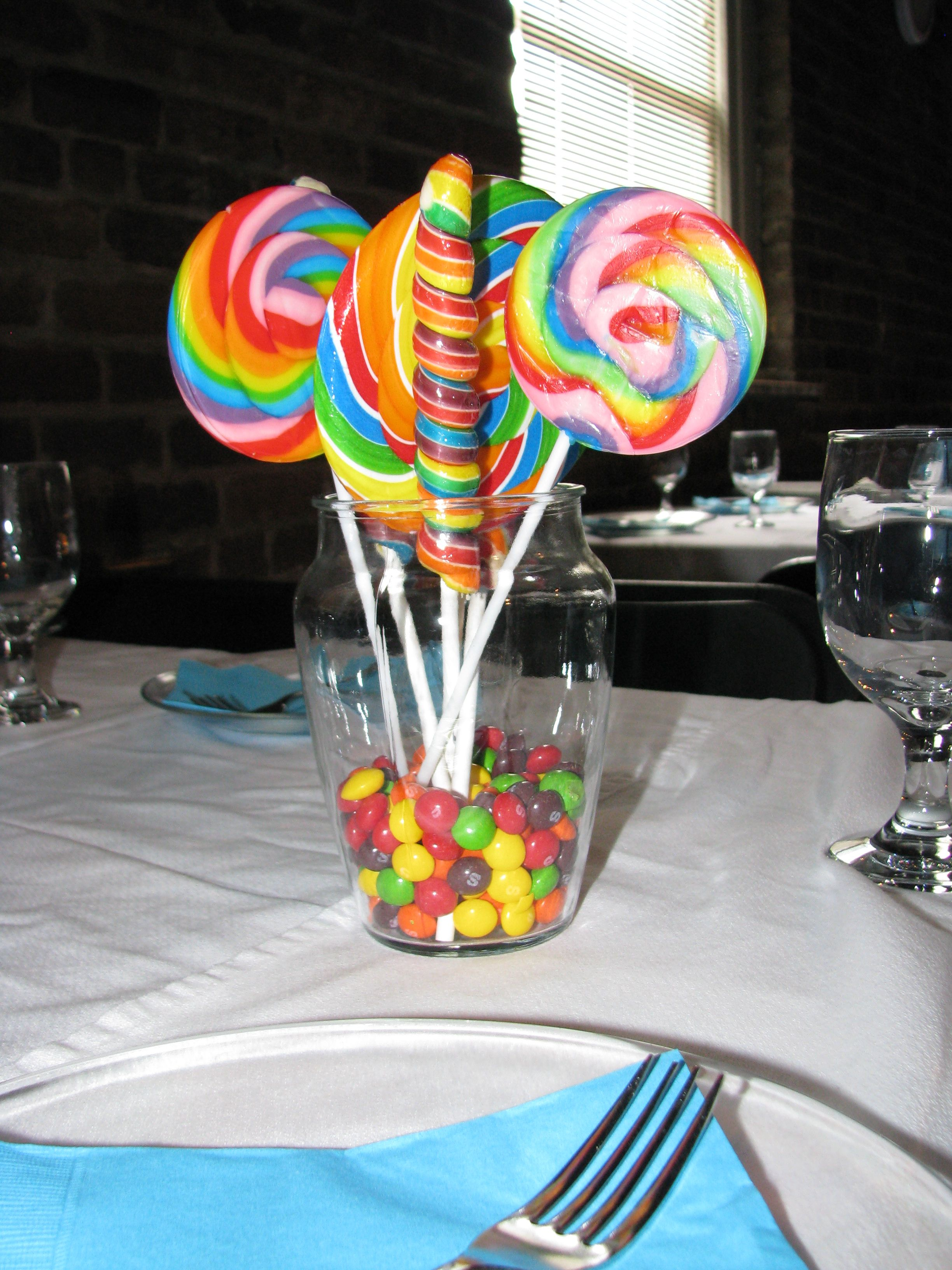 Candy centerpiece baby shower party ideas pinterest