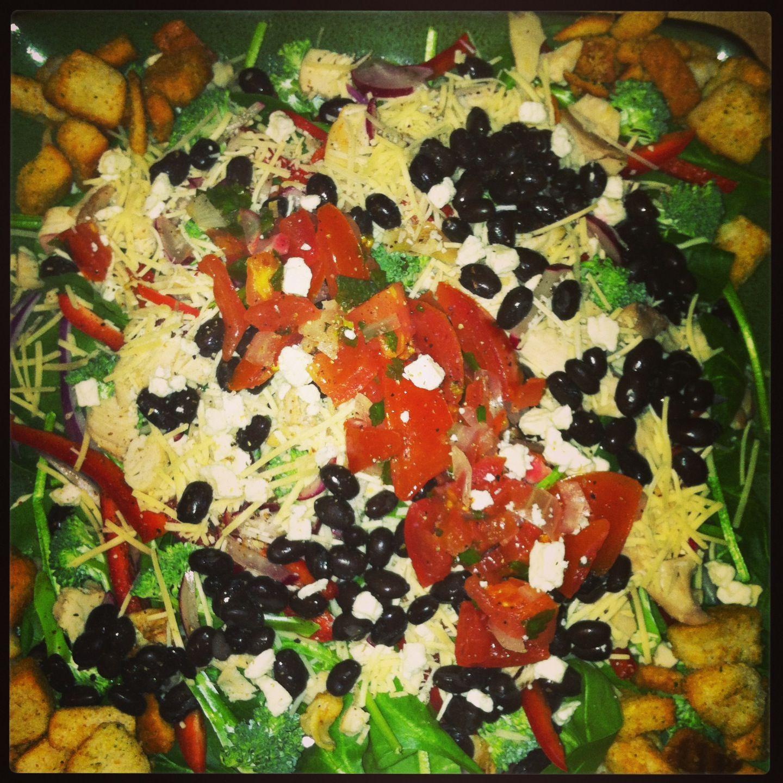 Chicken black bean salad | Yummy Stuff | Pinterest