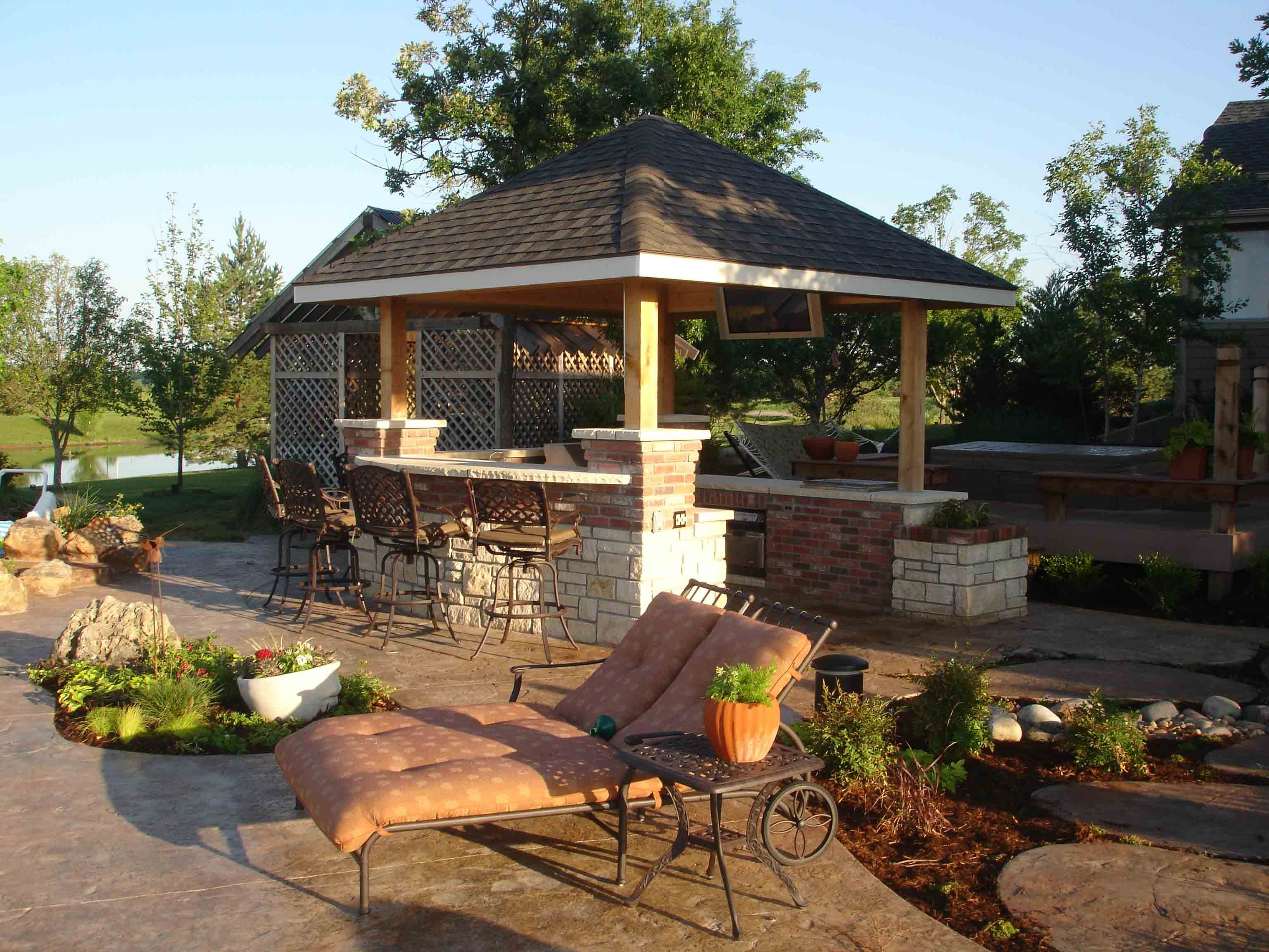 Outdoor Kitchen Garden Shed Poolhouse Pinterest