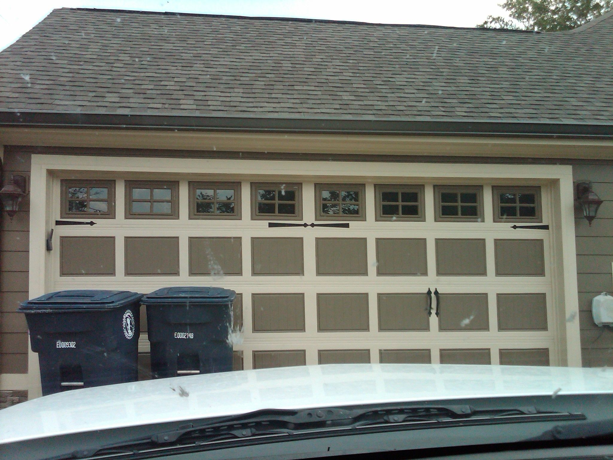 painted garage door outdoors landscaping pinterest