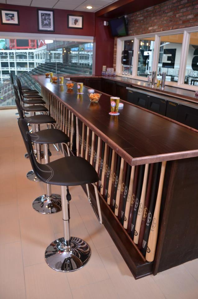 Baseball Man Cave Furniture : Corrugated metal bars google search store pinterest
