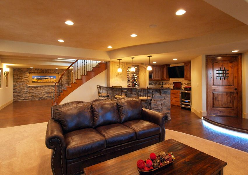 Beautiful basement dream house pinterest for Beautiful basements pictures