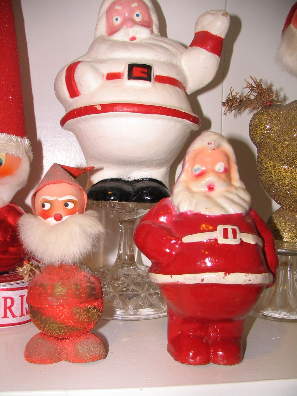 Paper mache santas christmas at my home pinterest for Paper mache christmas