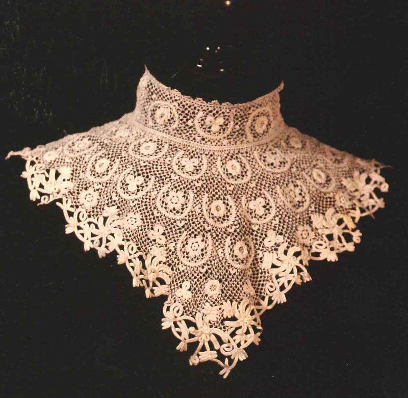 irish crochet lace collar lace Pinterest