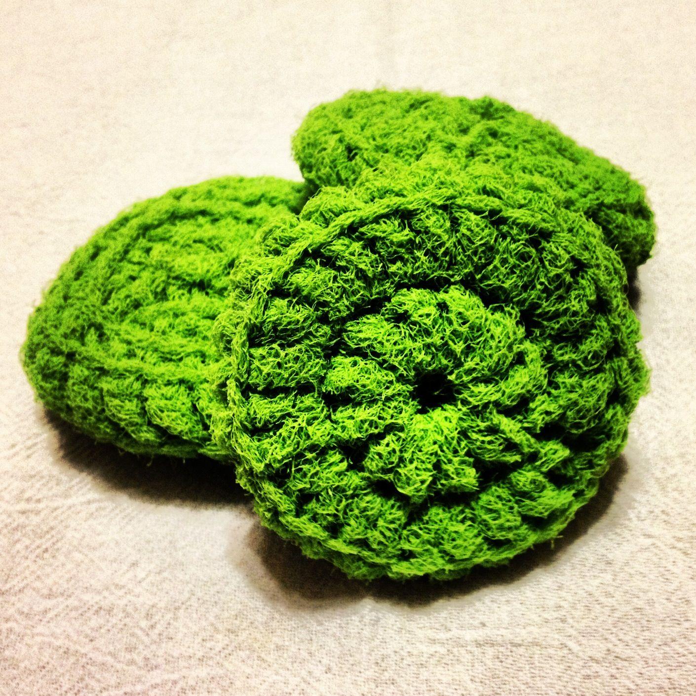Crocheted dish scrubbies Crochet Pinterest