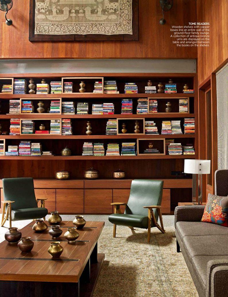 Mid Century Modern Living Room Shelter Pinterest