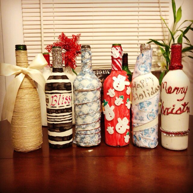 recycled wine bottle craft wine pinterest