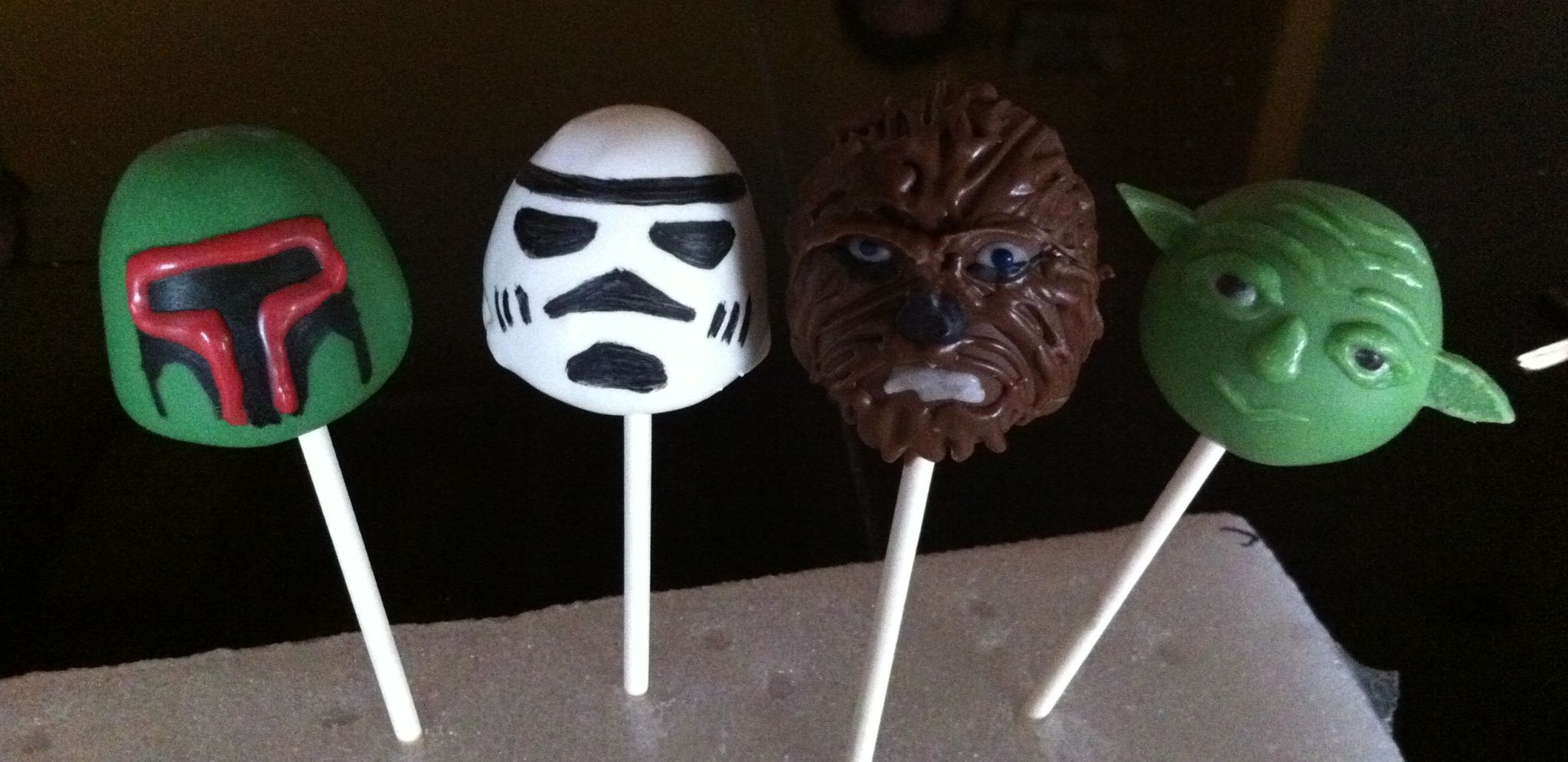 Star Wars Cake Pop Images : Star Wars cake pops! Close-up Cakes, Cupcakes, Cake Pops ...