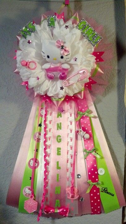 hello kitty mum for a baby shower homecoming mums pinterest