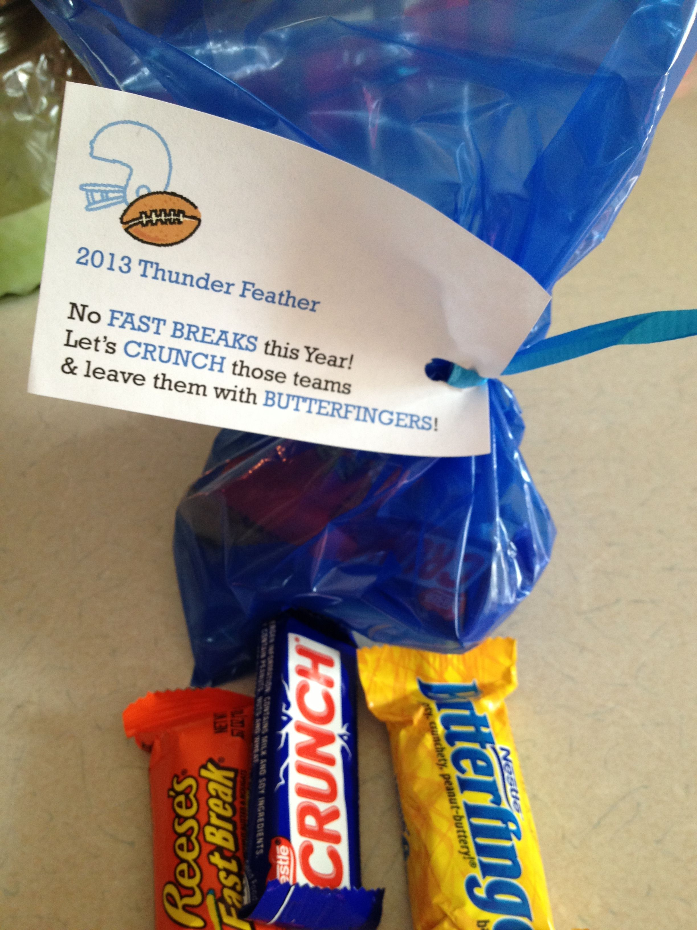Candy Bar Coaches Treat Bag | Football spirit | Pinterest