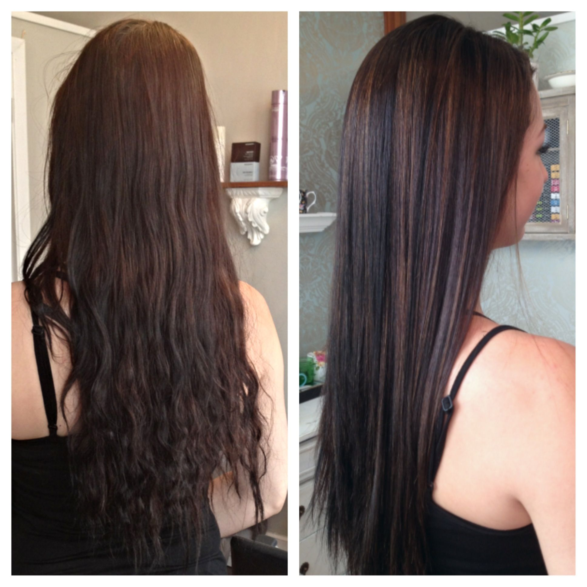Partial Highlights : Partial highlights before & after. Hair Pinterest