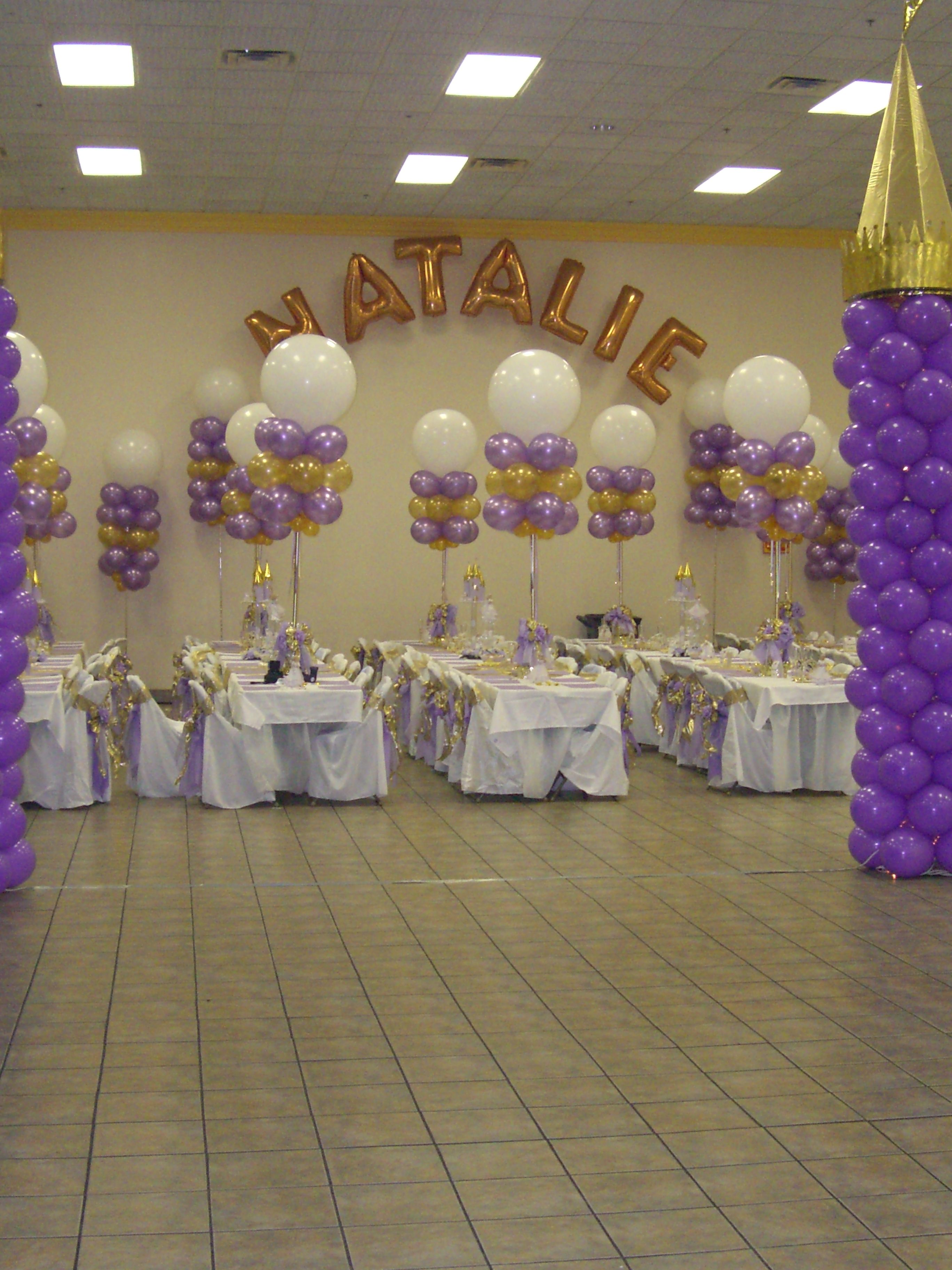 Pin quinceanera balloons and decorations mall pic 13 for Balloon decoration ideas for quinceaneras