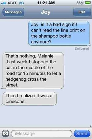 Can You See? copy of a humorous text