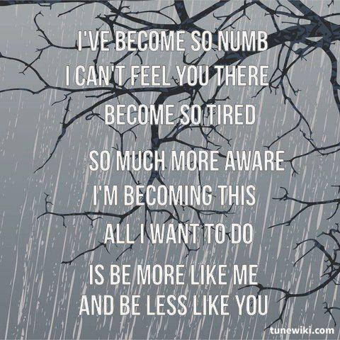Скачать песню ive become so numb
