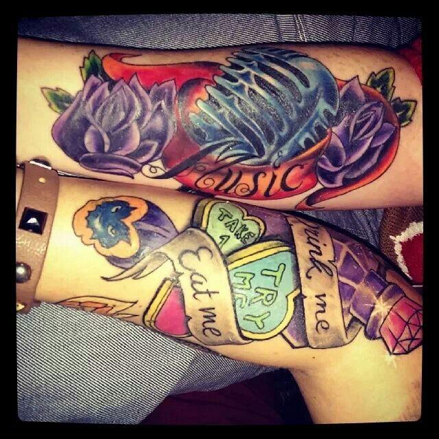 alice in wonderland tattoo | Tattoo & piercing ideas ...