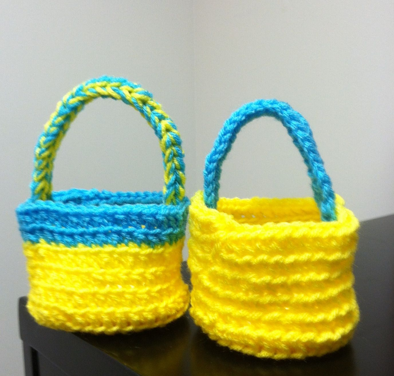 Crochet Easter Basket : Miniature Crochet Easter Baskets eggs and bunnies Pinterest