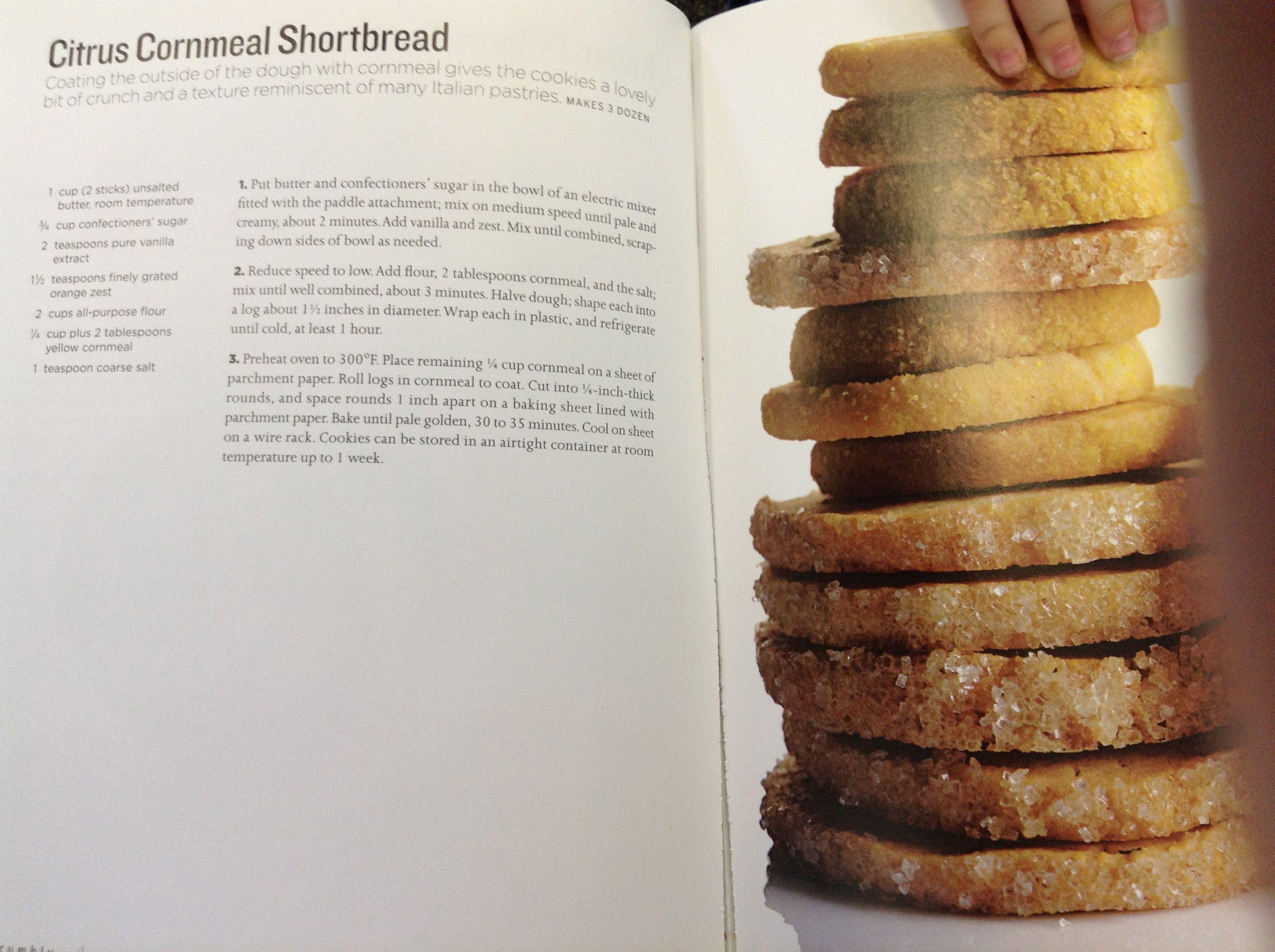 citrus cornmeal shortbread | Pastry | Pinterest