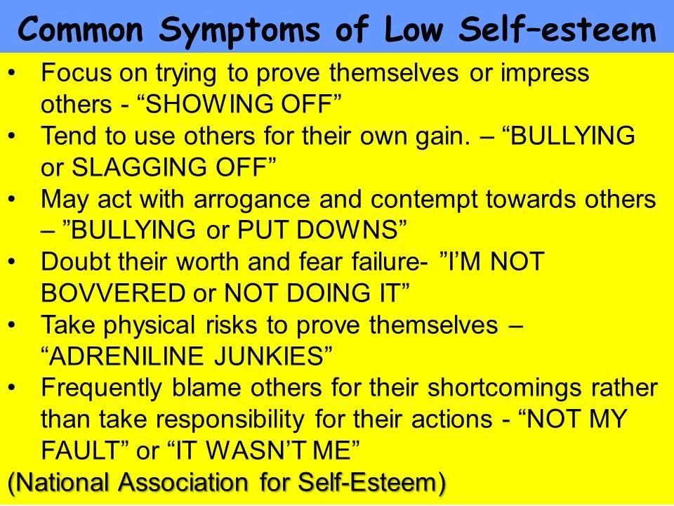 Causes Of Low Self Esteem In Men