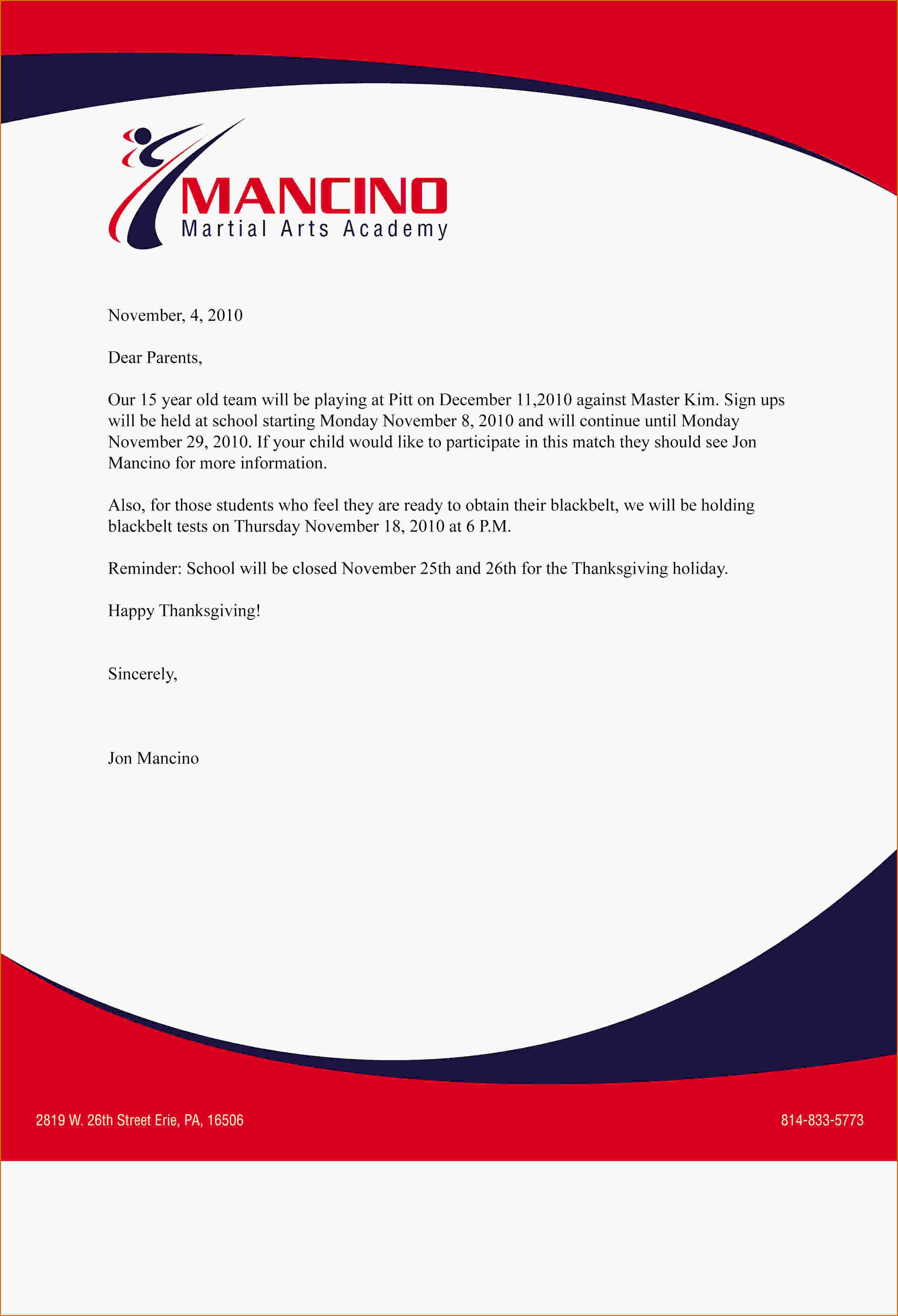 Business letter format letterhead sample letter writing format usa fresh letter sample business spiritdancerdesigns Images