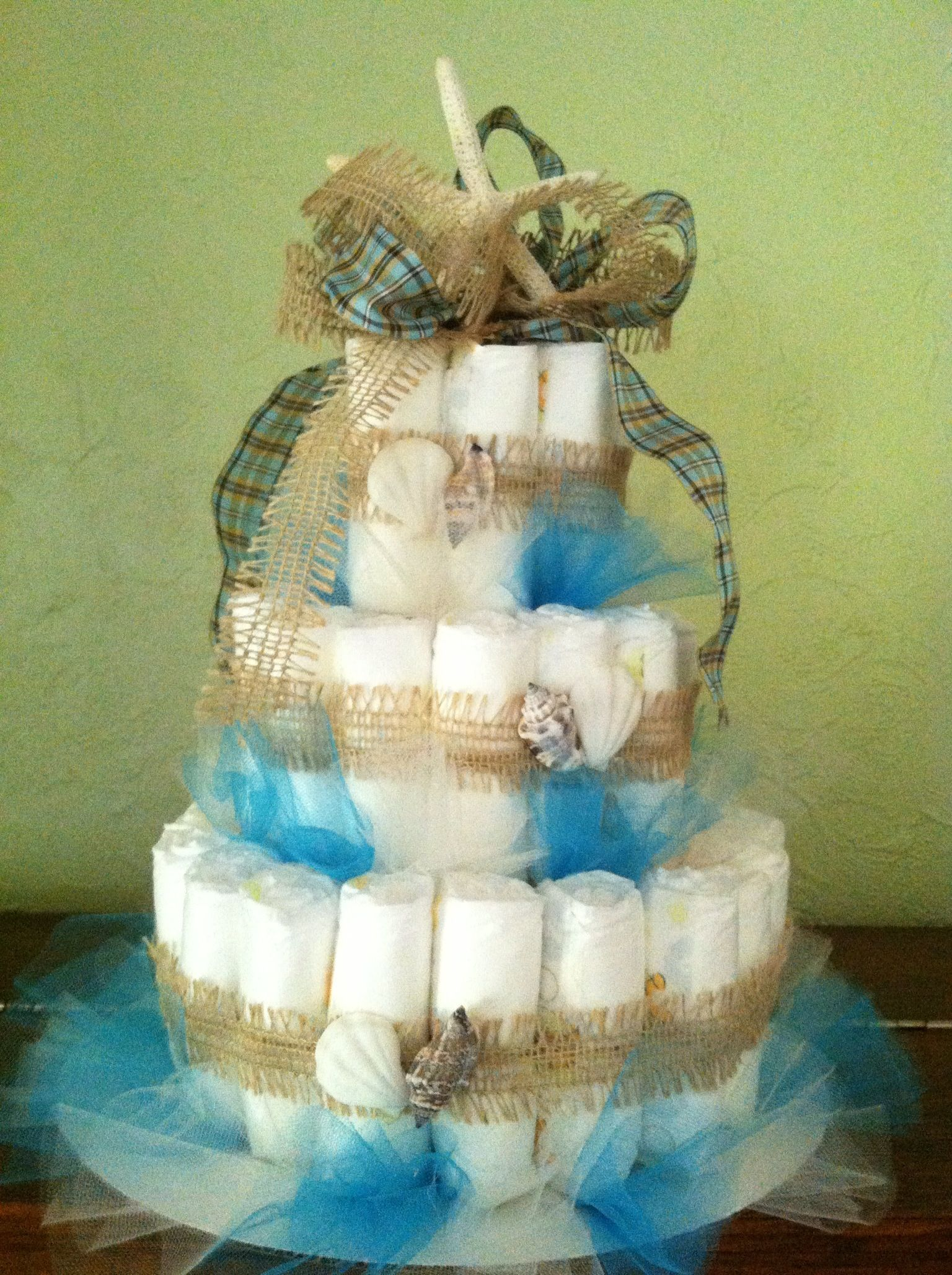 ocean theme diaper cake for baby shower baby shower ideas pintere