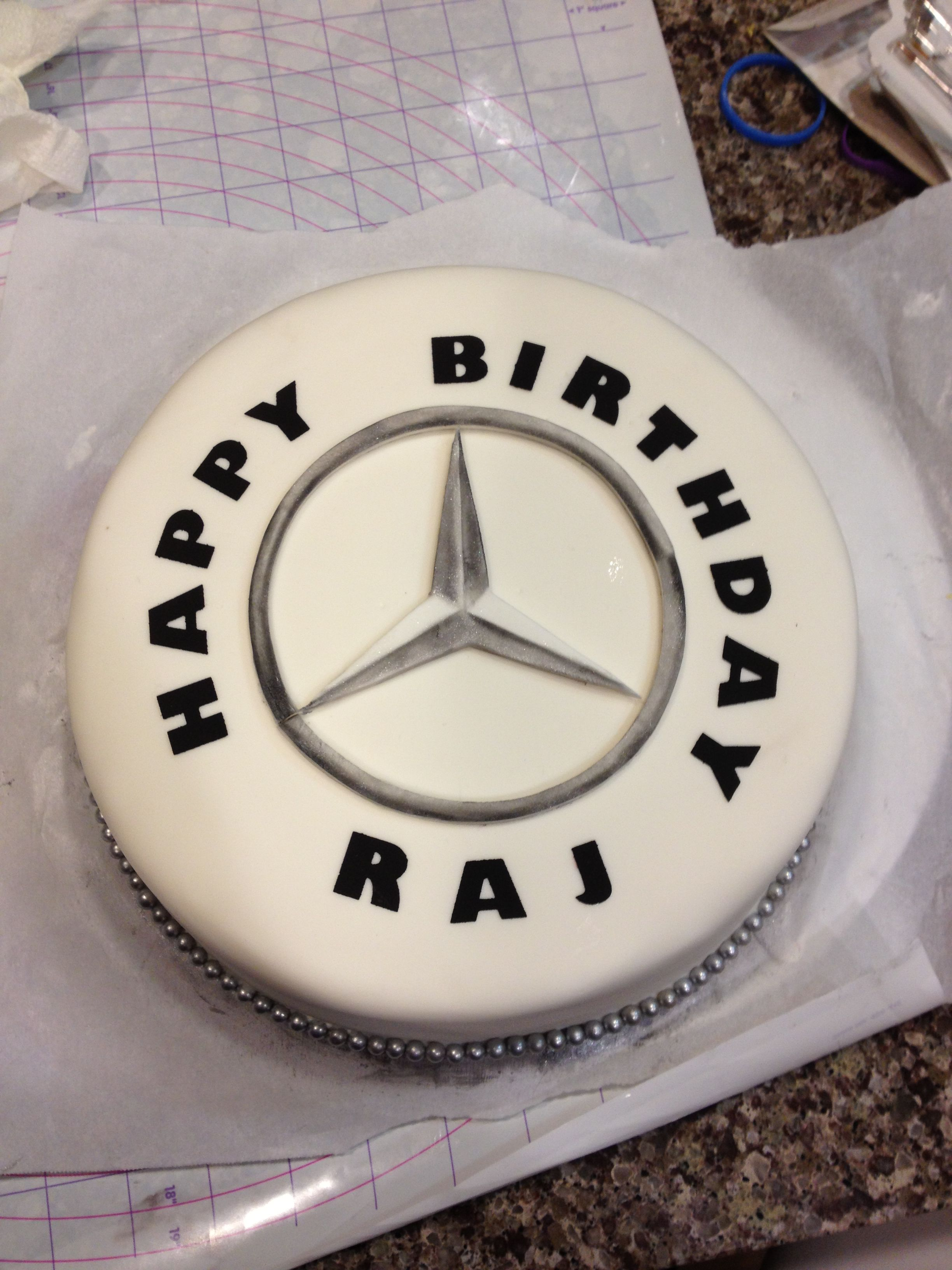 Mercedes Themed Birthday Cake Ilia Pinterest