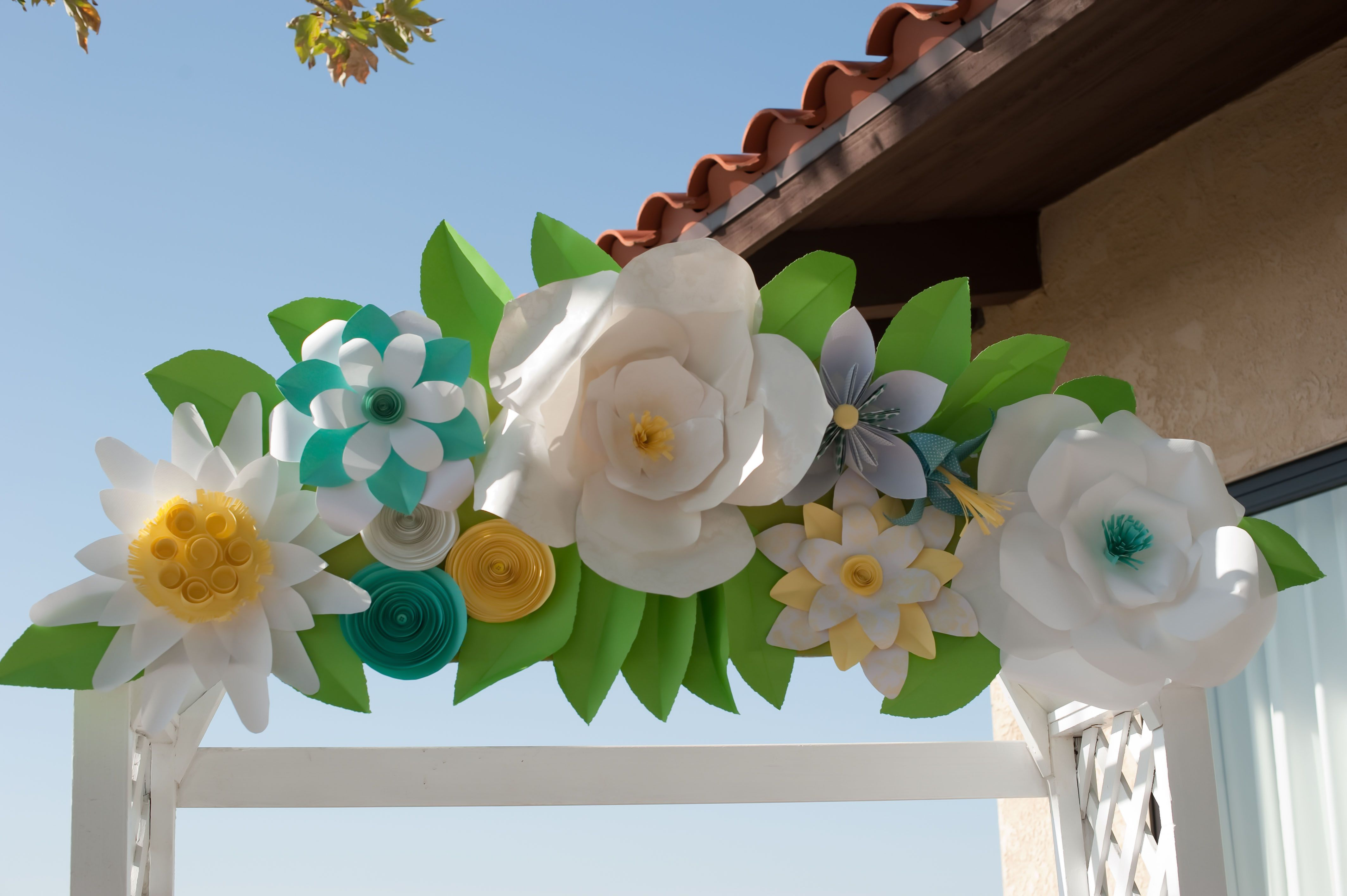 Paper Flower Archway