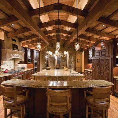 Log Cabin Kitchen Rustic Kitchens Pinterest