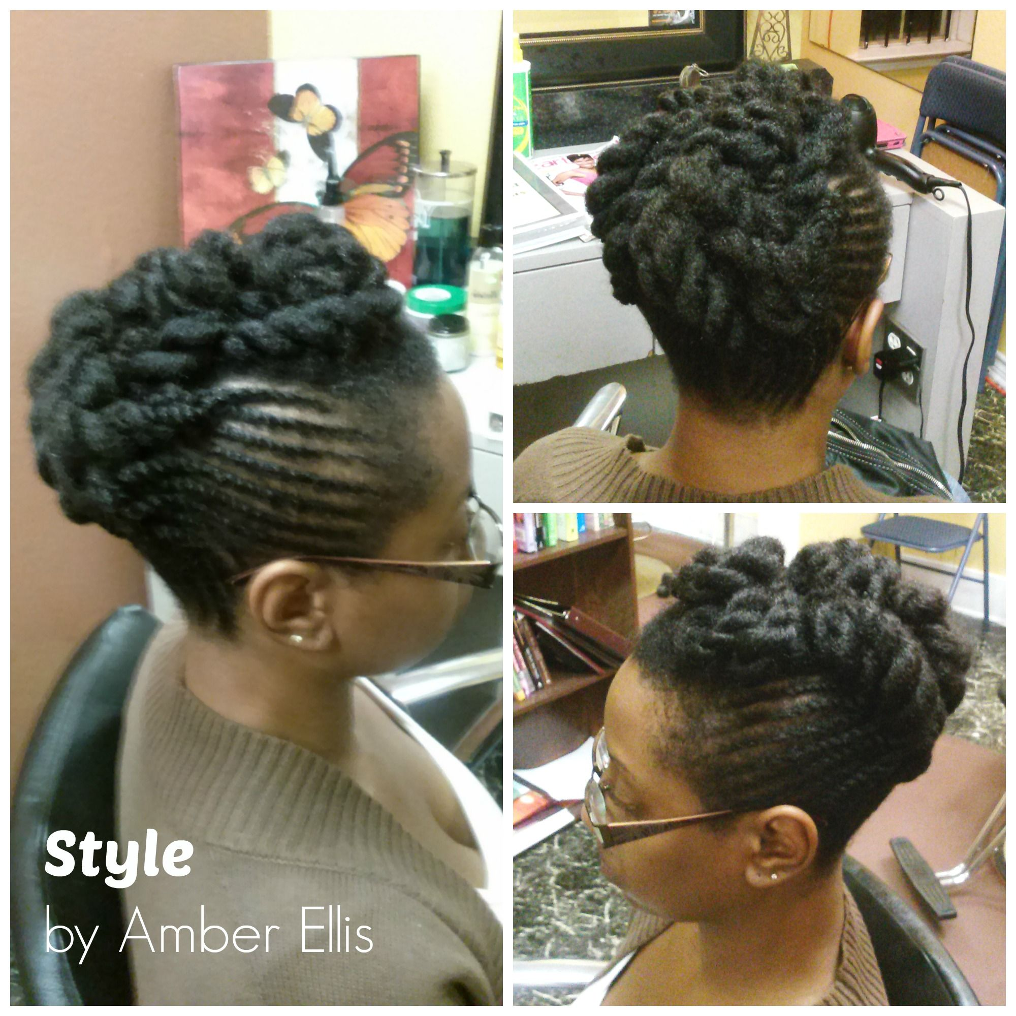 Nappybliss Natural Hair Salon Hairstyles Pinterest