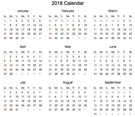 Free 2018 Calendar,2018 Printable Calendar,2018 Calendar Editable ...