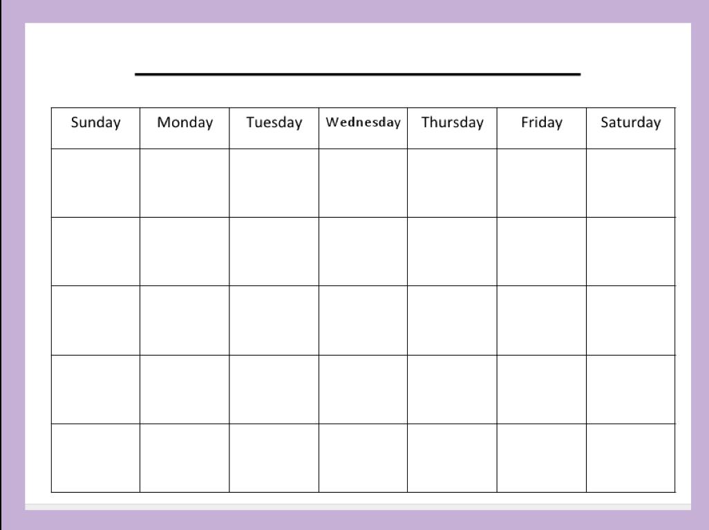 Cute Printable Blank Calendar – Printable Editable Blank Calendar 2017