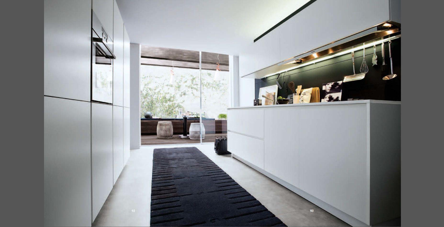 White Galley Kitchen Kitchens Pinterest