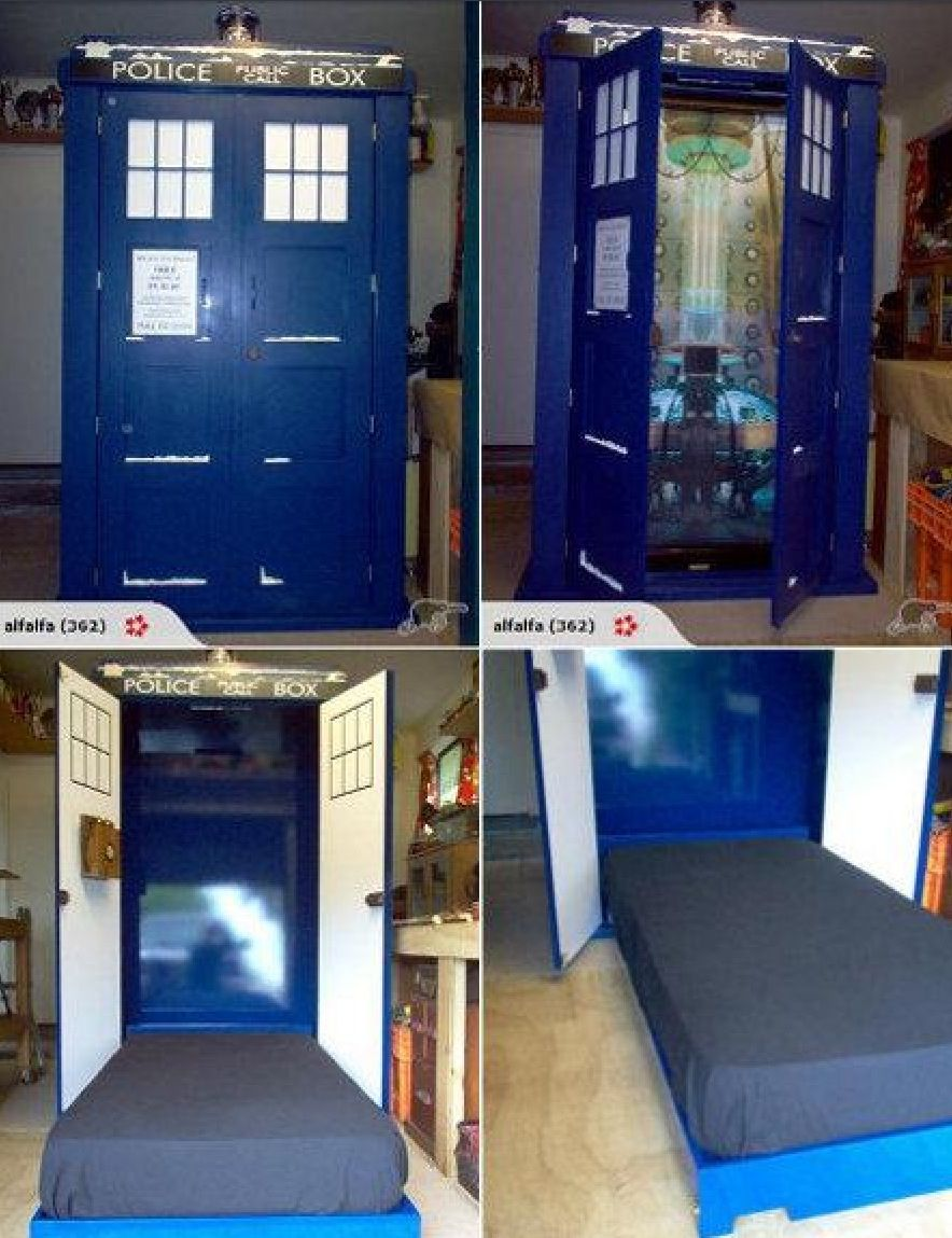 Tardis Murphy Bed Doctor Who Pinterest