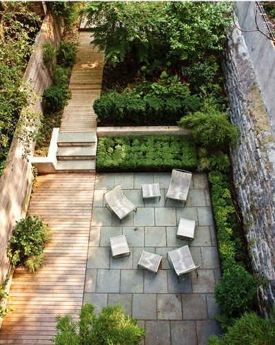 Long Narrow Backyard Design Ideas : Long narrow garden divided into rooms  Gardens  Pinterest
