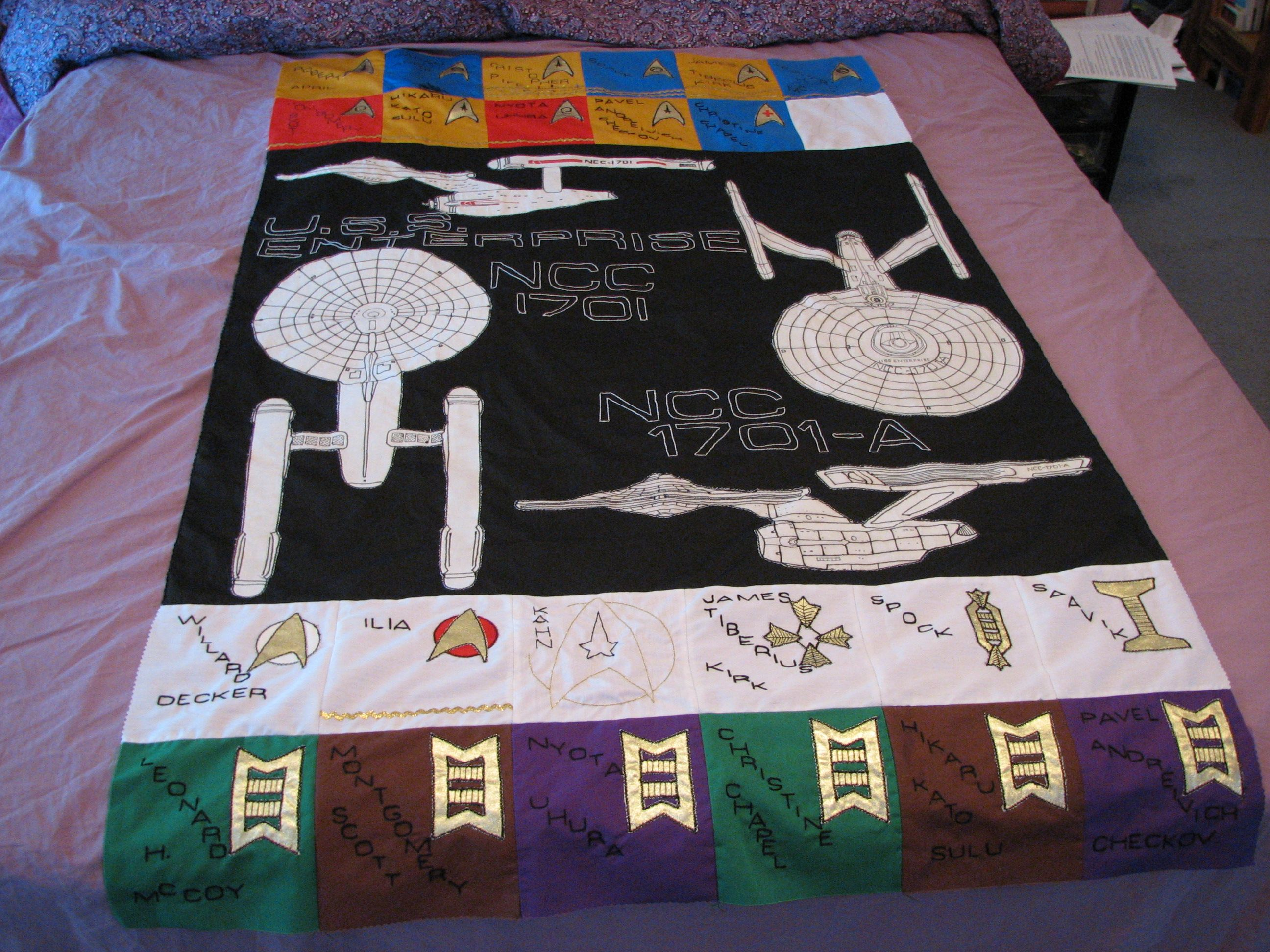 star trek embroidery designs free