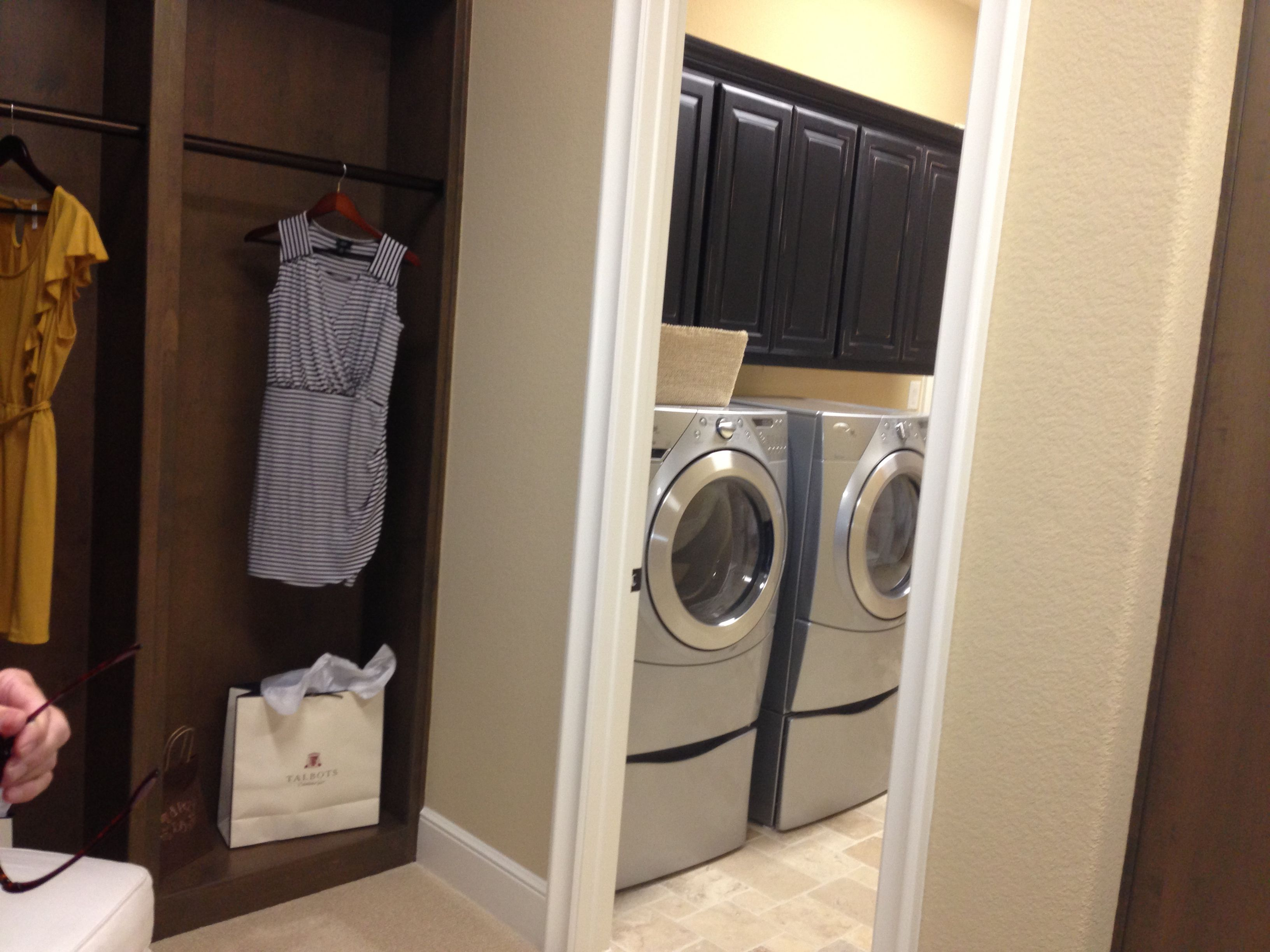Laundry room attached to master closet dream home for Masters laundry