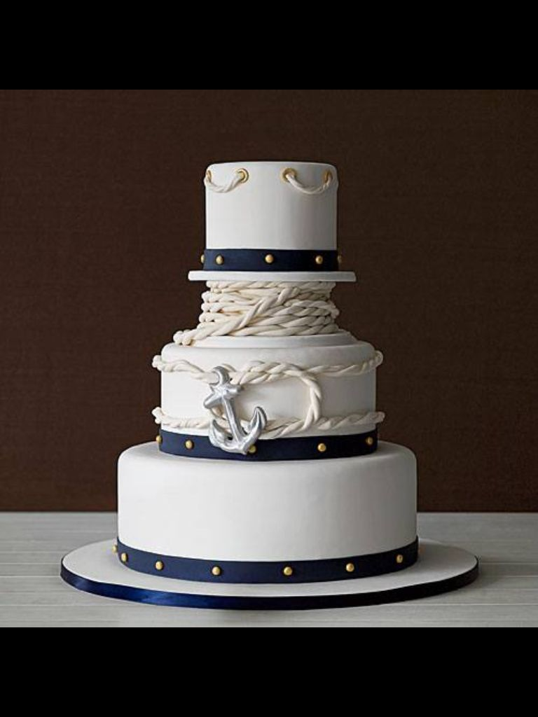 Nautical Wedding Cake AMAZING