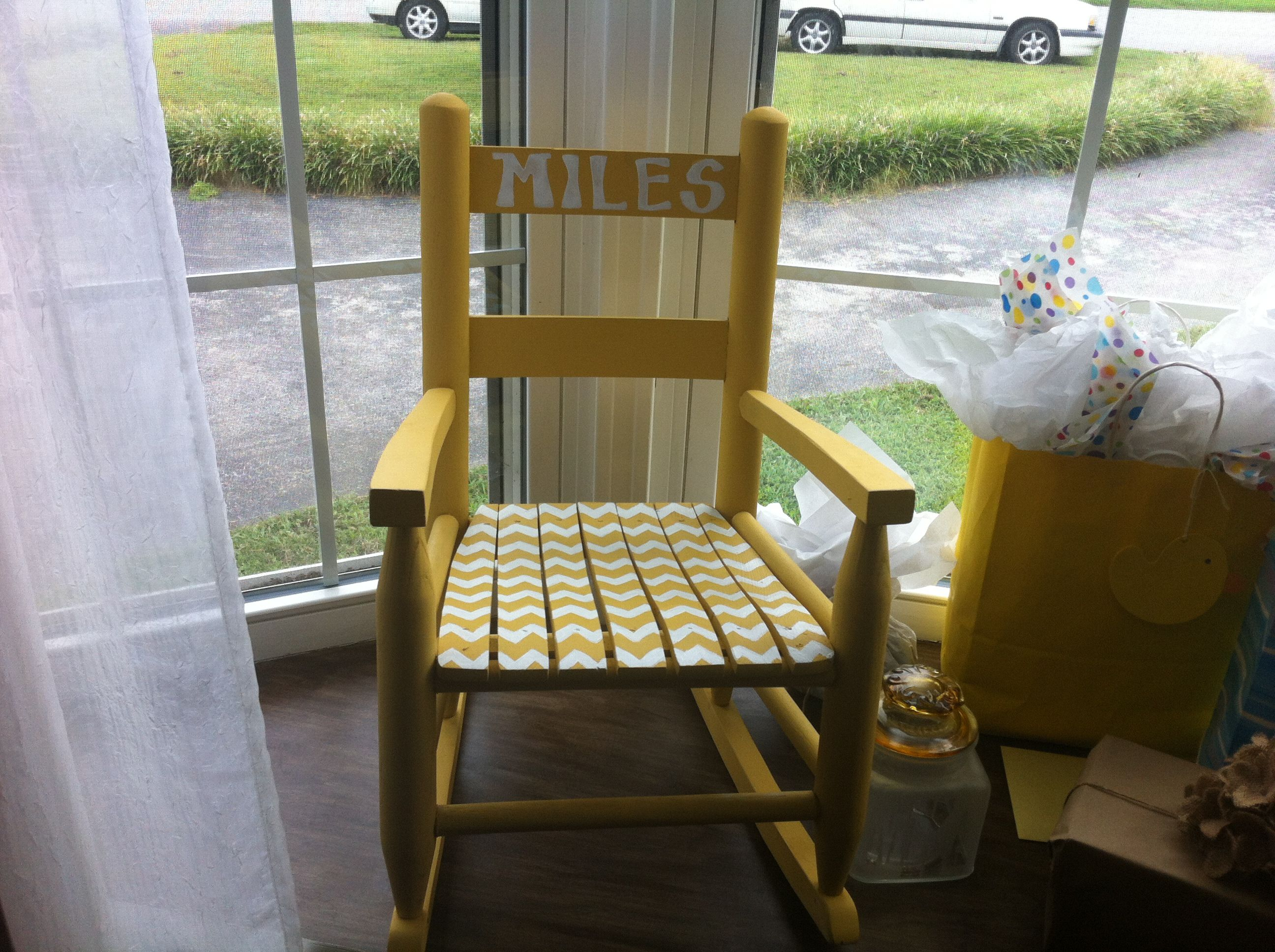 Amazing photo of Painted rocking chair Craft Ideas Pinterest with #614B20 color and 2592x1936 pixels
