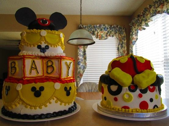 mickey mouse baby shower cakes party disney theme mickey minnie