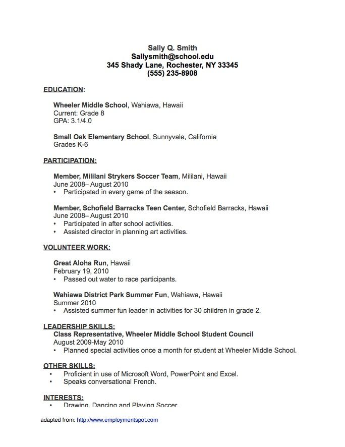 Resume For Student Just Out Of College