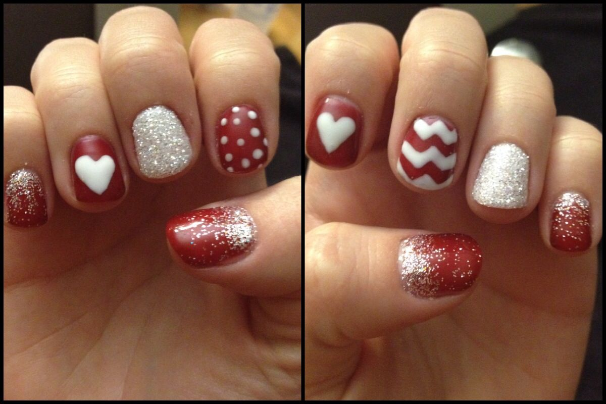 valentine's day gel nail designs