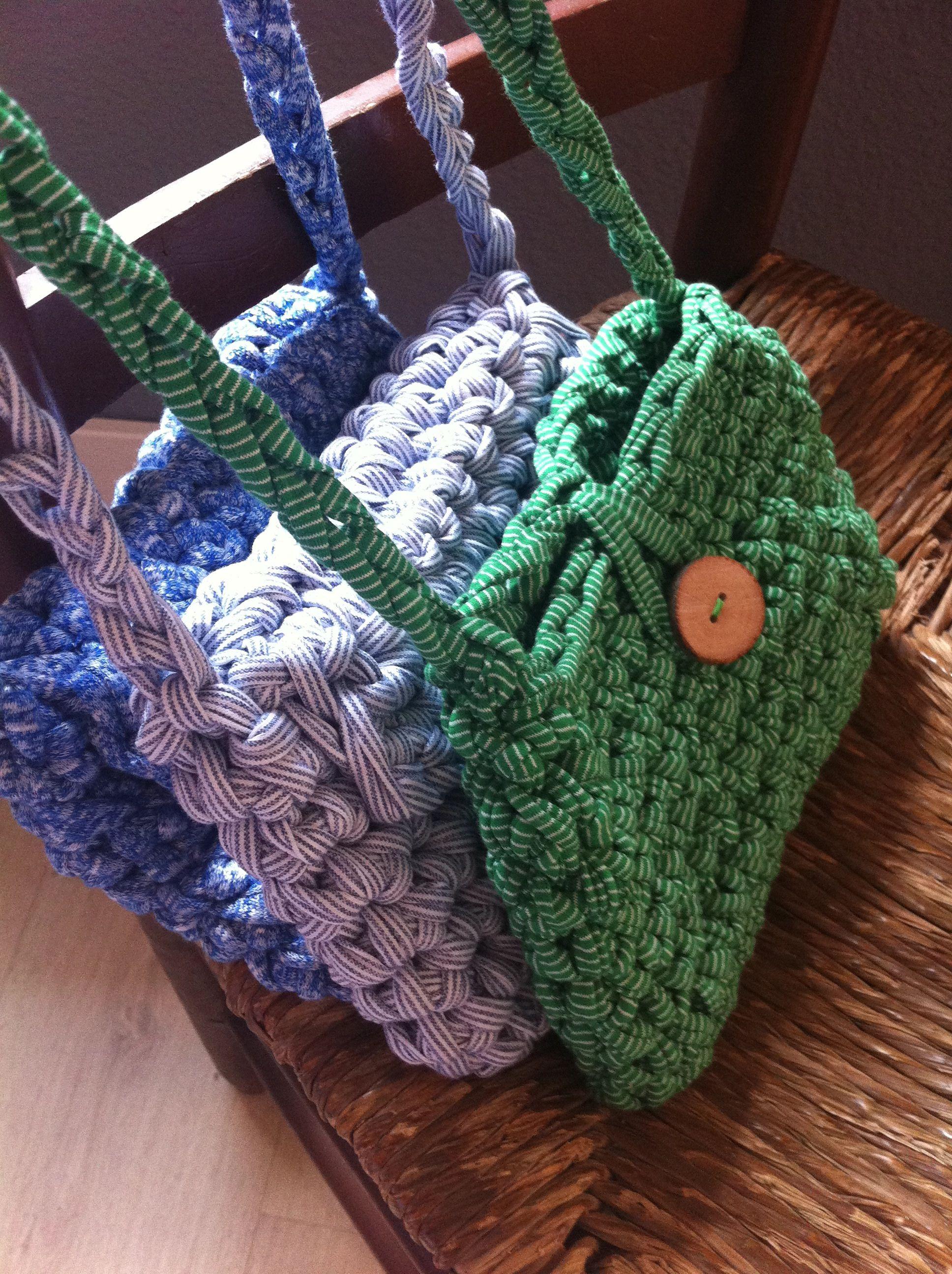 Crochet Craft Bag : Crochet bags by Delimalimon Craft Crochet Pinterest