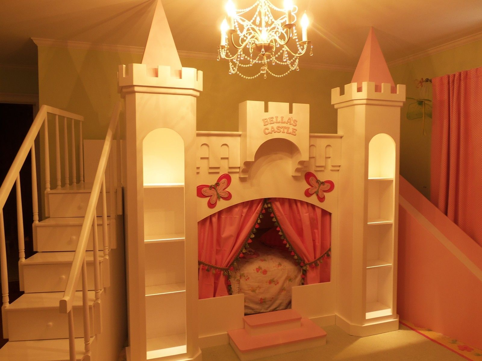 Princess castle bed sweet serenity pinterest for How to make a princess bedroom