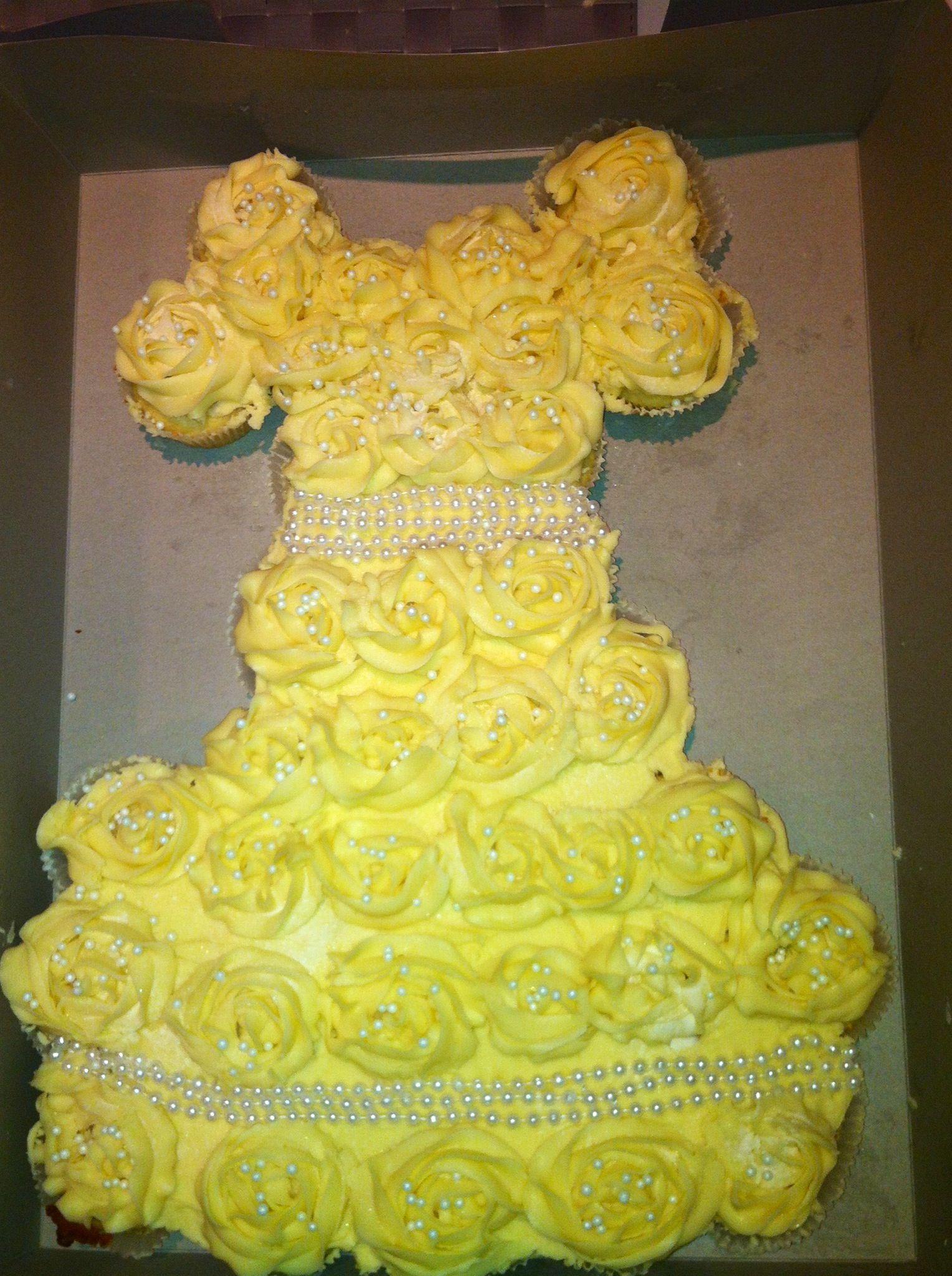 Dress cupcakes Cupcake cakes and Wedding dress cupcakes