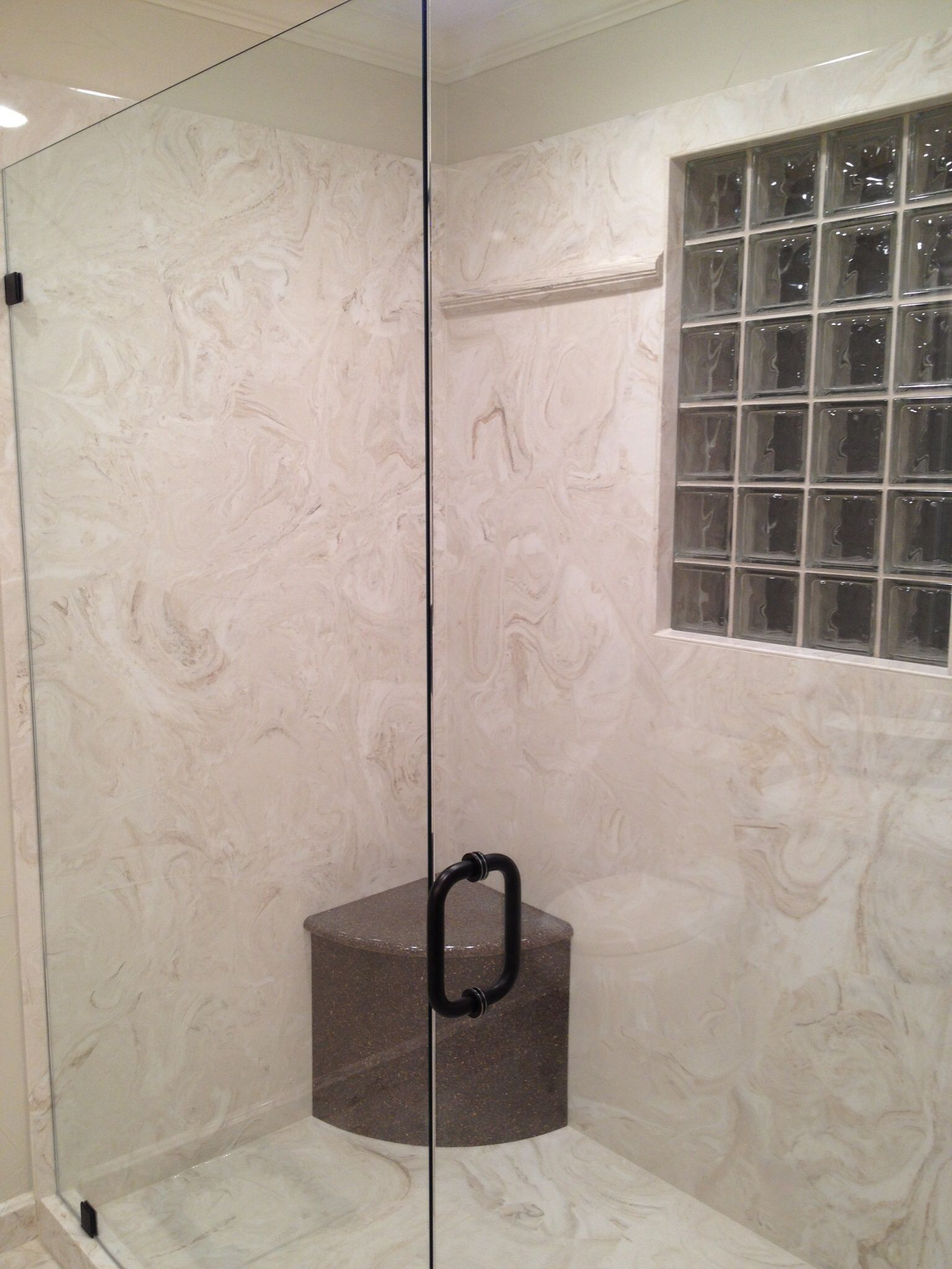 Cultured Marble Shower Marble Bathrooms Pinterest
