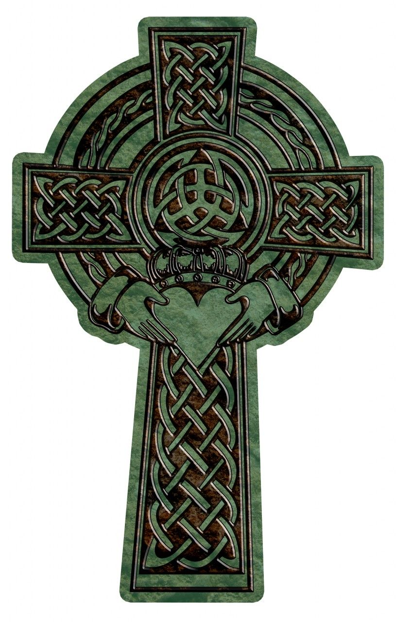 Celtic cross with claddagh tattoo ideas pinterest for Pics of celtic cross tattoos