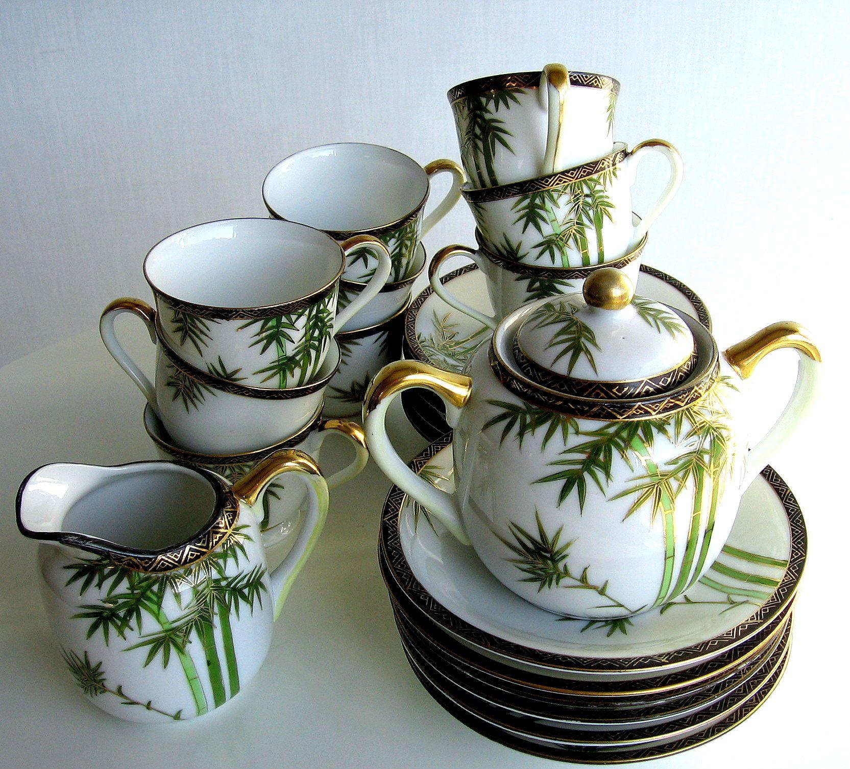 Asian porcelan tea sets